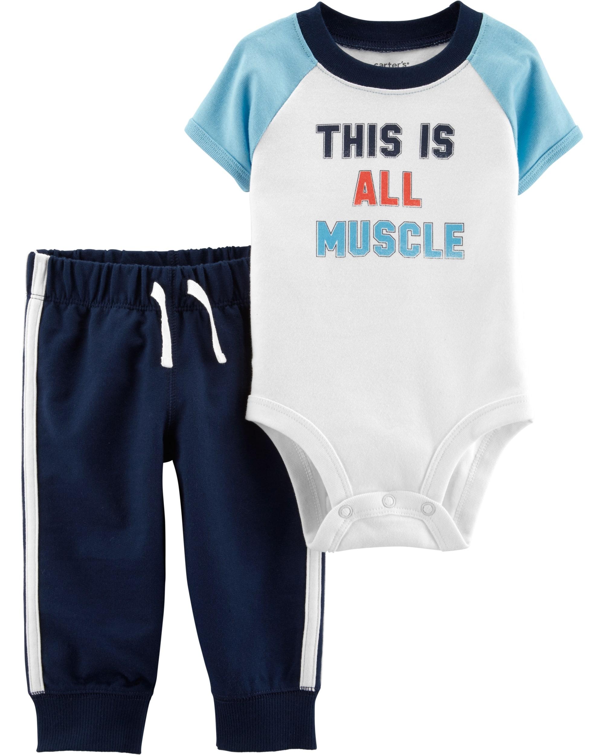 Carter's Set 2 Piese Atletic pantaloni & body 100% bumbac