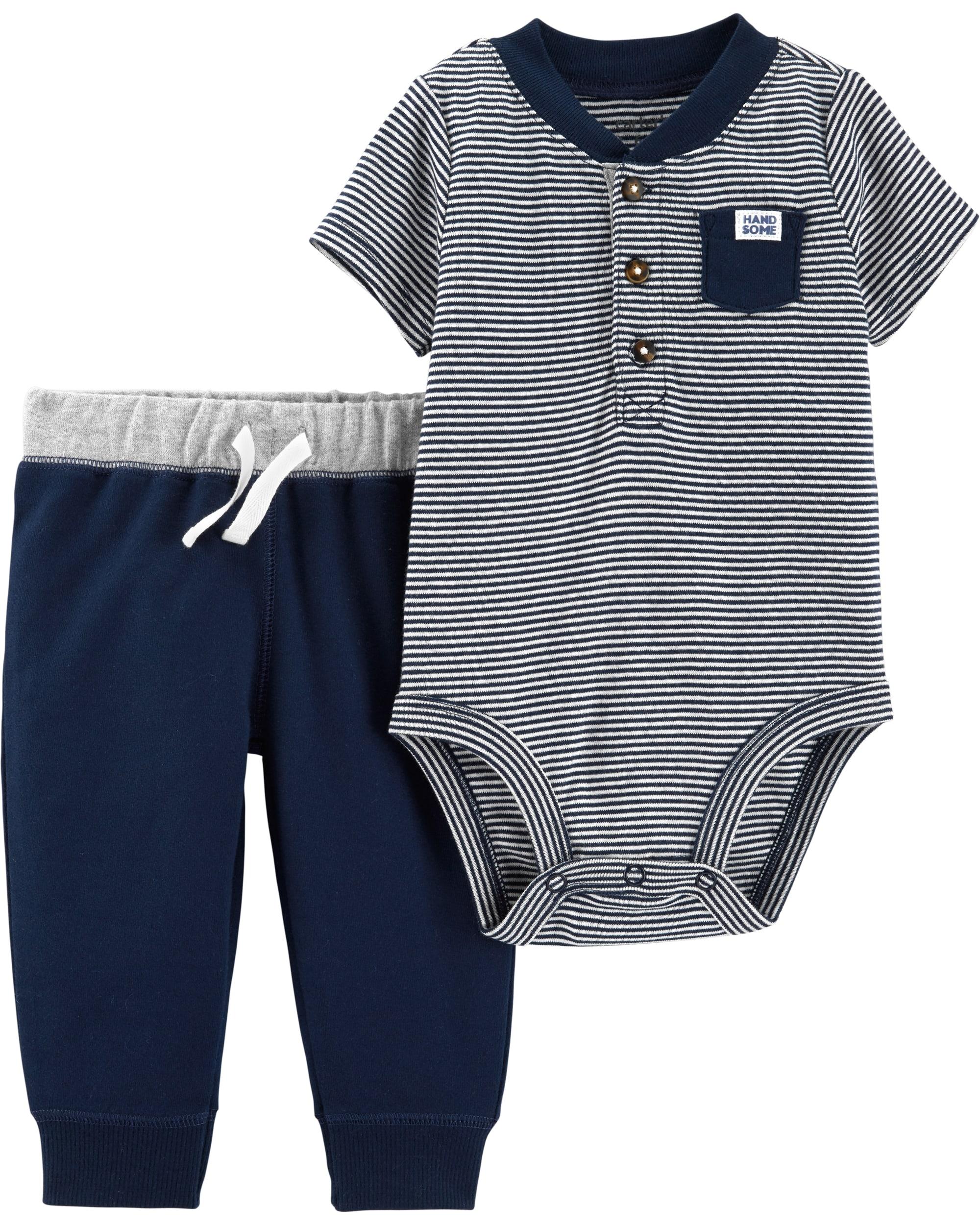 Carter's Set 2 Piese Henley body & pantaloni 100% bumbac