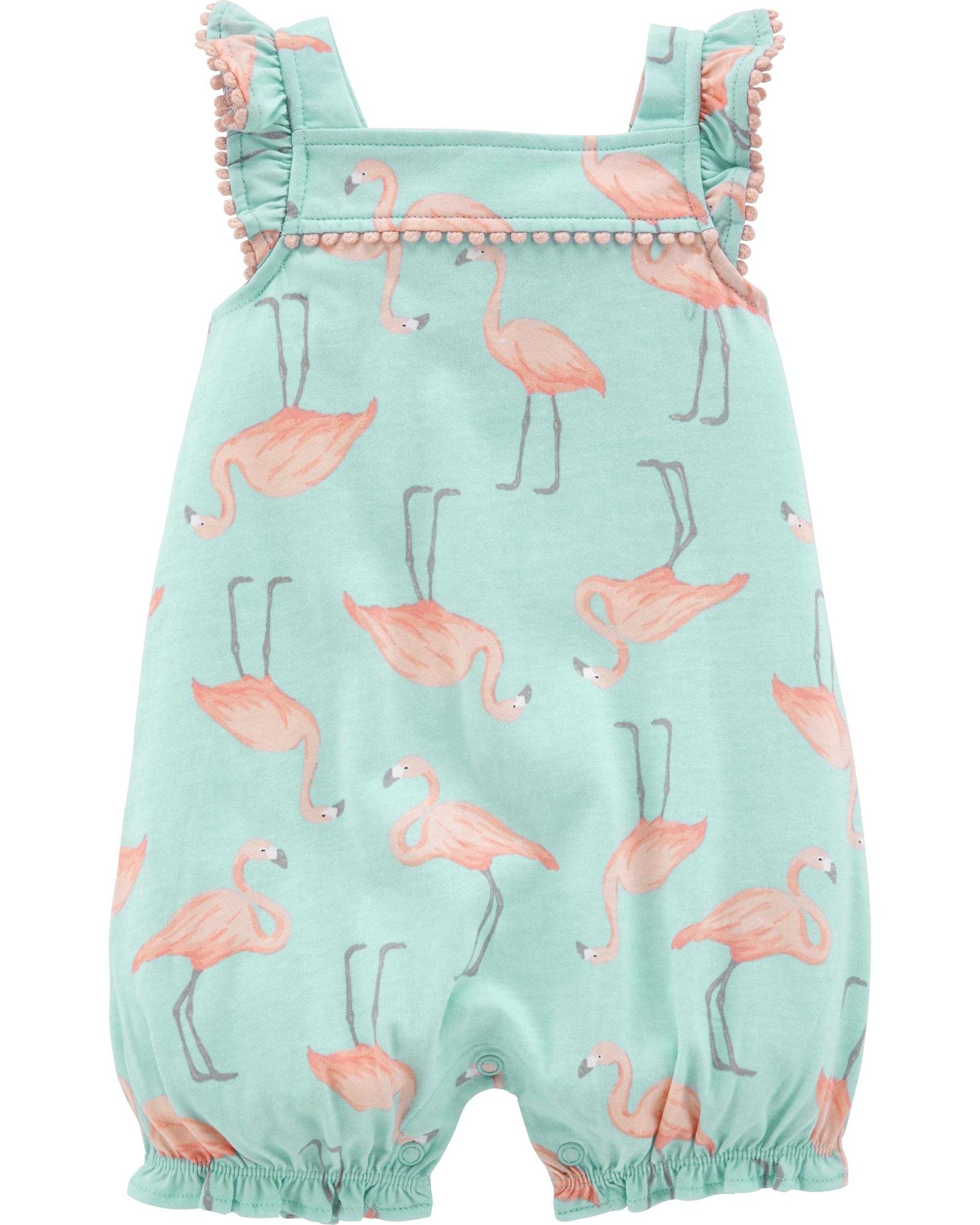 Carter's Salopetă cu flamingo 100% bumbac