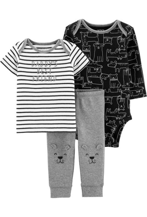 Carter's Set 3 piese Catel, pantaloni, top si body