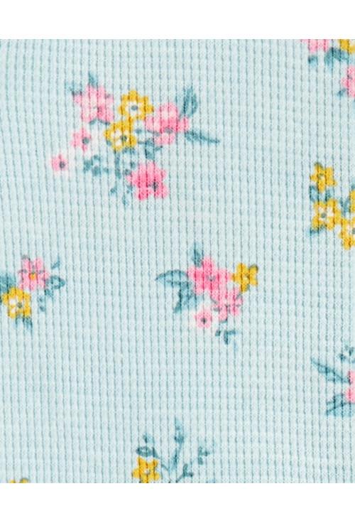 Carter's Pijama bebelus cu fermoar si flori