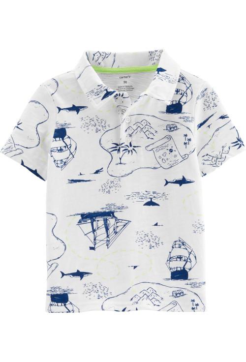 Carter's Tricou tip cămașă cu pirați 100% bumbac