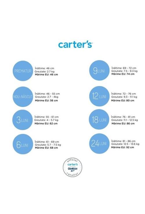 Carter's Set 2 piese bluză & pantaloni roz Iepuras