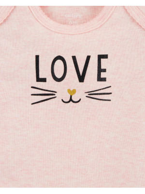 Carter's Set 5 Piese body love, pisicuțe, dungi & buline