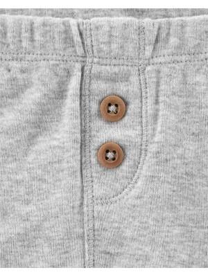 Carter's Set 2 Piese pantaloni cu nasturi 100% bumbac