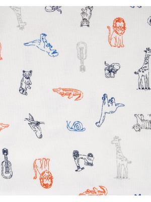 Carter's Set 3 Piese Animale bluză, body & pantaloni lungi
