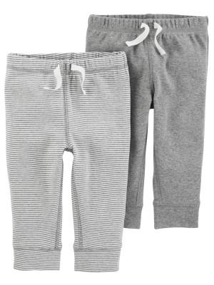 Carter's Set 2 Piese pantaloni cu snur 100% bumbac