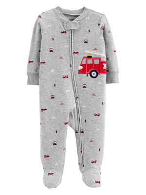 Carter's Pijama Pompier cu fermoar 100% bumbac