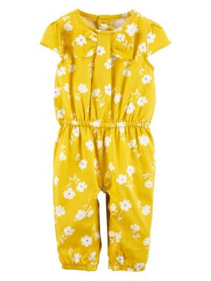 Carter's Salopetă galbenă cu floricele