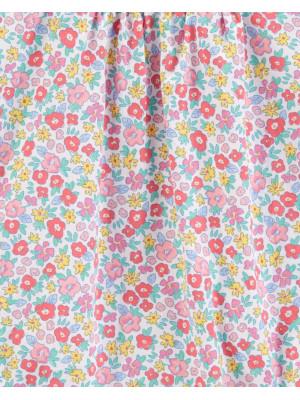OshKosh Salopetă florală de vară 100% bumbac