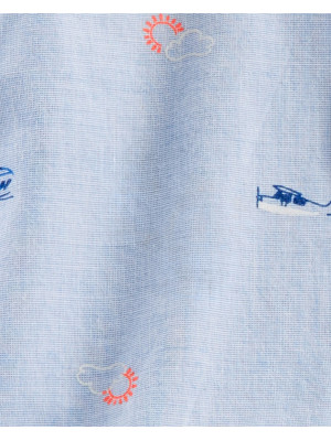 OshKosh Body cu guler și avioane 100% bumbac
