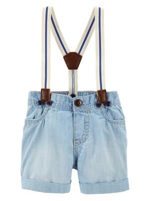 OshKosh Pantaloni Scurți cu bretele 100% bumbac