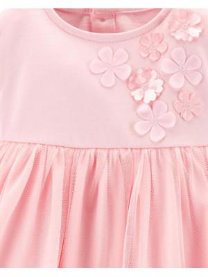 Carter's Rochiță roz cu floricele și chiloțel