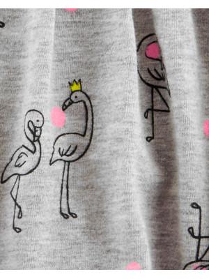 Carter's Body tip rochiță cu flamingo 100% bumbac