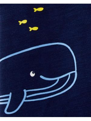 Carter's Set 2 Piese salopetă dungi & salopetă balenă 100% bumbac