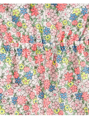 Carter's Salopetă florală cu bretele 100% bumbac