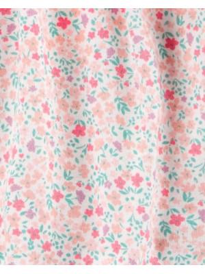 Carter's Set 2 piese Floral, cardigan si rochita