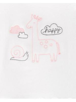 Carter's Set 4 piese girafa, pantaloni, top, căciulă și sosete