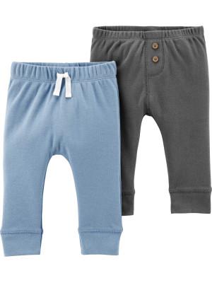 Carter's Set 2 piese pantaloni cu nasturi și șnur în talie