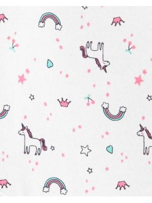Carter's Set 3 piese unicorn, pantaloni și două body-uri