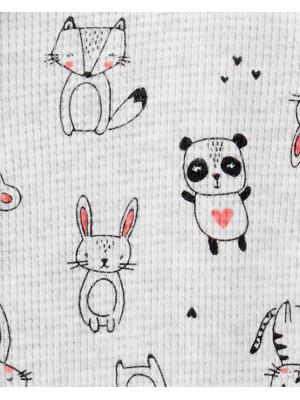 Carter's Pijama beleus cu fermoar Animale