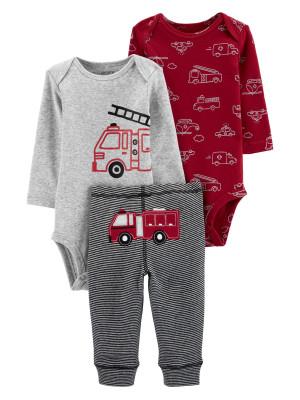 Carter's Set 3 Piese 2 body si pantaloni Masina de pompieri