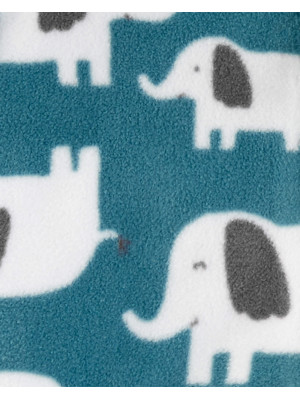 Carter's Set 3 piese Elefant hanorac cu glugă, pantaloni si body