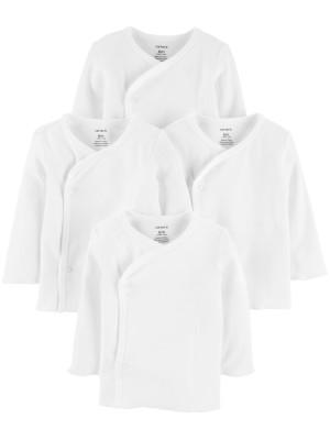 Carter's Set 4 bluzite bebe cu inchidere laterala alb