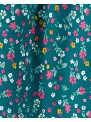 Carter's Pijama bebe verde cu flori