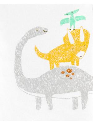 Carter's Set 3 Piese  Dinozaur hanorac, body & pantaloni 100% bumbac