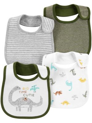 Carter's Set 4 bavețici bebelus Dinozaur