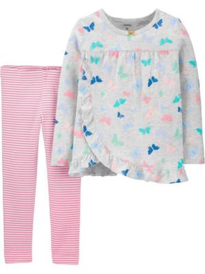 Carter's Set 2 Piese bluză si pantaloni Fluturasi