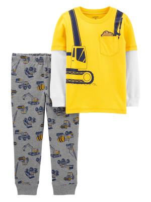 Carter's Set 2 piese bluză si pantaloni Constructii