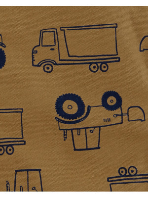 Carter's Set 2 Piese bebe tricou si salopeta Camion