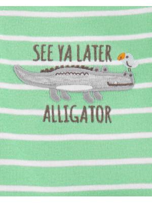 Carter's Set 3 Piese 2 body-uri & pantaloni Aligator