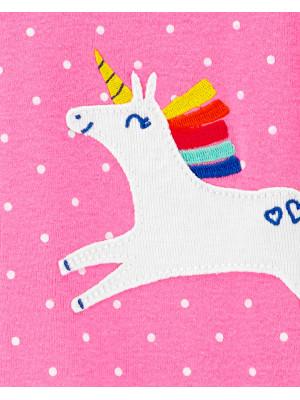 Carter's Pijama bebe Unicorn roz