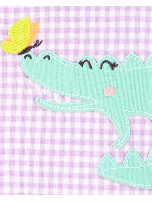 Carter's Pijama mov bebelus Aligator