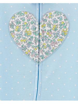 Carter's Pijama albastra Inimioara