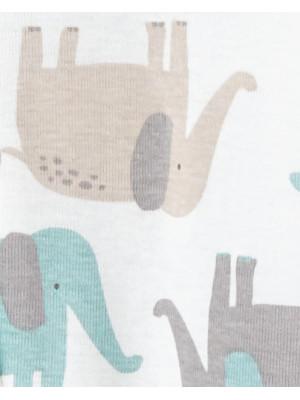 Carter's Set 2 piese pijamale bebe Elefanti