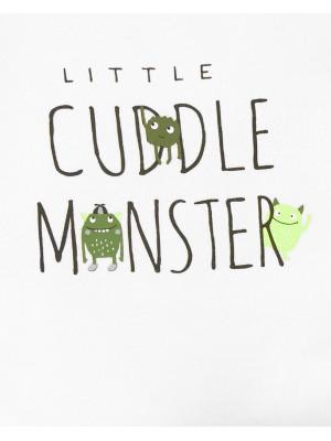 Carter's Set 3 Piese bebelus 2 body si pantaloni Monstrulet