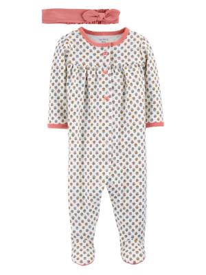 Carter's Set 2 piese bebe pijama si bentita