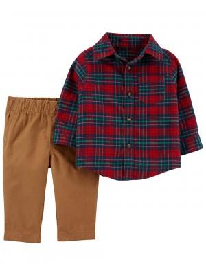 Carter's Set 2 Piese Elegante camasa si pantaloni
