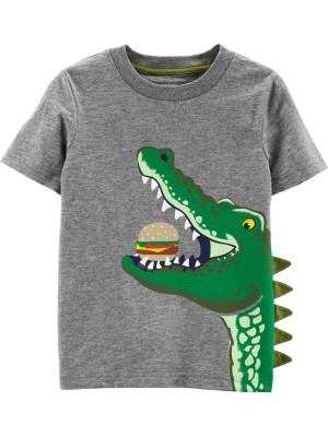 Carter's Tricou cu aligator și hamburger 100% bumbac