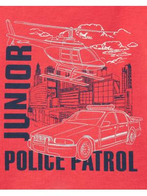Carter's Tricou patrula de poliție 100% bumbac