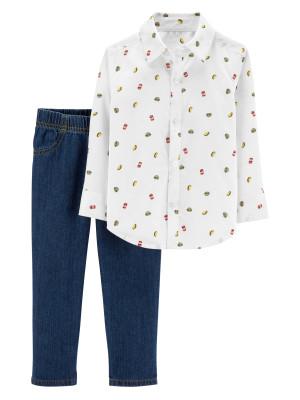 Carter's Set 2 Piese Elegante cămașă & pantaloni