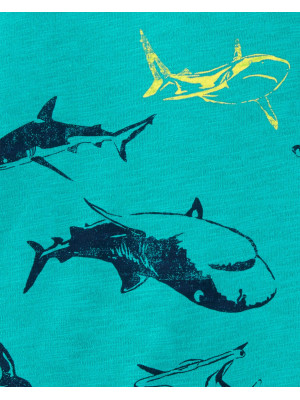 Carter's Tricou cu rechini 100% bumbac