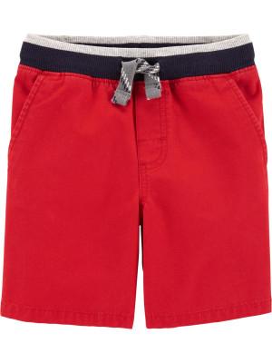 Carter's Pantaloni scurți roşii cu talie elastică 100% bumbac