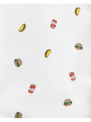 Carter's Set 2 Piese Fast Food cămaşă & pantaloni scurți 100% bumbac