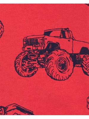Carter's Hanorac roșu cu glugă și mașini
