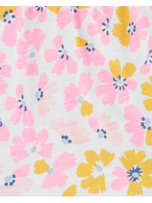 Carter's Set 2 piese Floral bluză & colanți